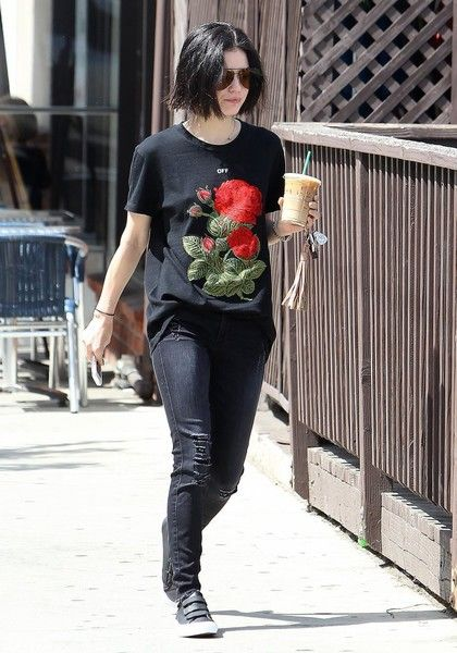 Actress Lucy Hale was seen out and about in Studio City, California on April 28, 2017. The 27 year old actress stopped by a Starbucks for some coffee on a sunny afternoon.