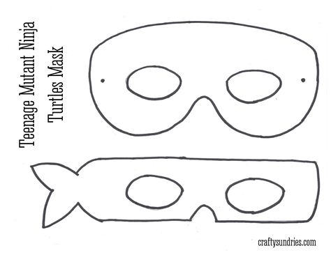 Из бумаги маска черепашки ниндзя