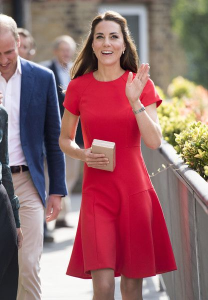 Catherine, Duchess of Cambridge arrives to visit a helpline service run by one of the eight charity partners of Heads Together in London, England.
