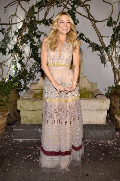 """Actress Kate Hudson attends The Cinema Society With Lands' End screening of Open Road Films' """"Mother's Day"""" after party at Ladur��e Soho on April 28, 2016 in New York City."""