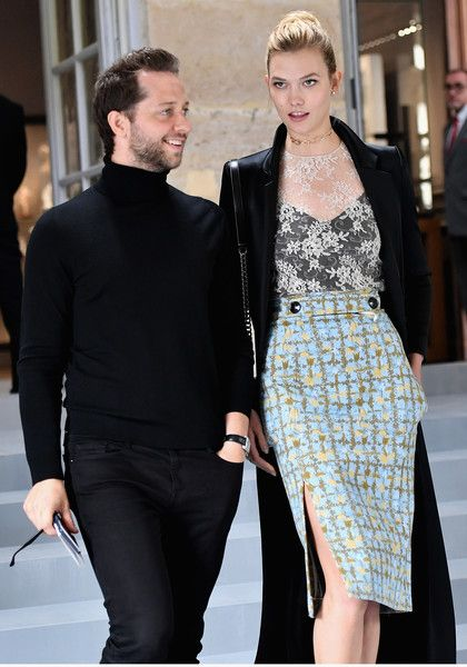 Derek Blasberg and Karlie Kloss arrive at the Christian Dior show as part of the Paris Fashion Week Womenswear  Spring/Summer 2017  on September 30, 2016 in Paris, France.