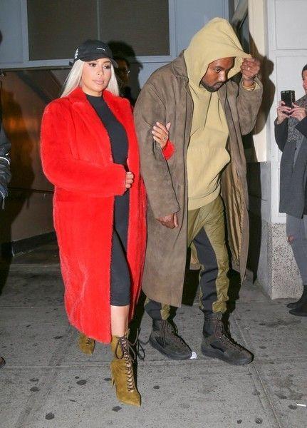 Kim Kardashian & Kanye West Leave 'Hamilton' in NYC