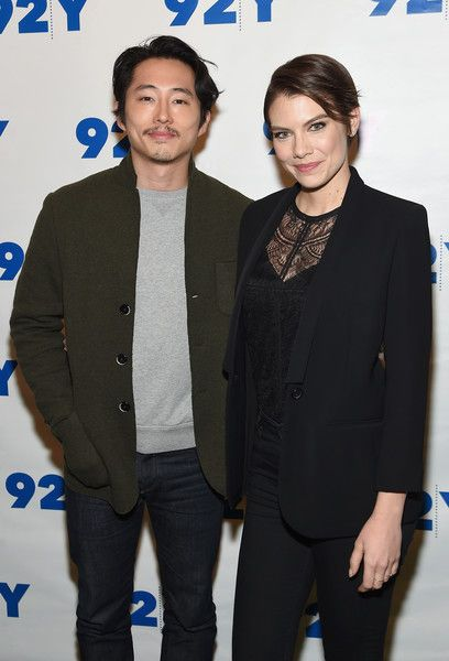 Actors Steven Yeun and Lauren Cohan attend The Walking Dead: Screening and Conversation at the 92nd St Y on February 8, 2016 in New York City.