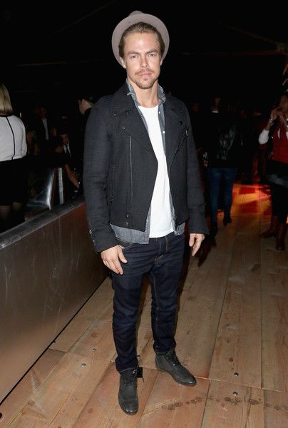 Derek Hough attends the DirecTV Super Saturday Night Co-Hosted by Mark Cuban's AXS TV.