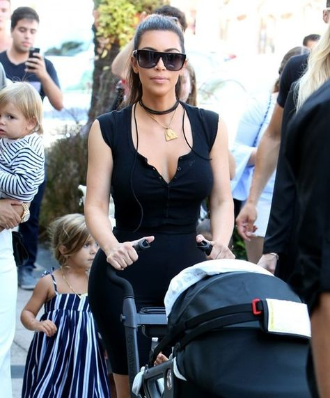 The Kardashian Family is seen together in La Jolla, California to celebrate both their grandmother's birthday and the opening of their new children's boutique.
