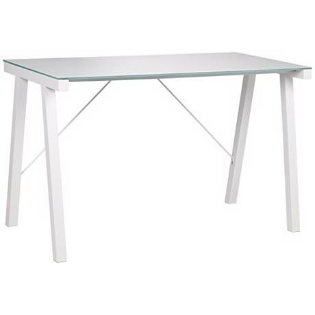 25 Secret Treasures From Lamps Plus—Rand Contemporary White Desk: $149.