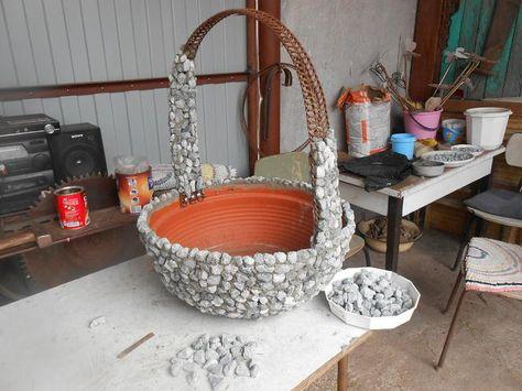 Садовая ваза своими руками мастер класс 43