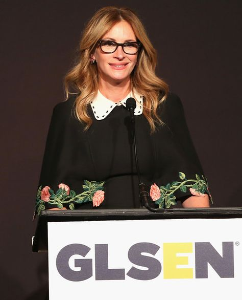 Honorary Co-Chair Julia Roberts speaks onstage at the 2016 GLSEN Respect Awards.