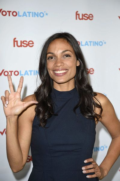 """Rosario Dawson attends the Voto Latino 7th annual """"Our Voices: Celebrating Diversity in Media"""" reception at the Hay Adams Hotel on April 29th, 2016 in Washington, DC."""