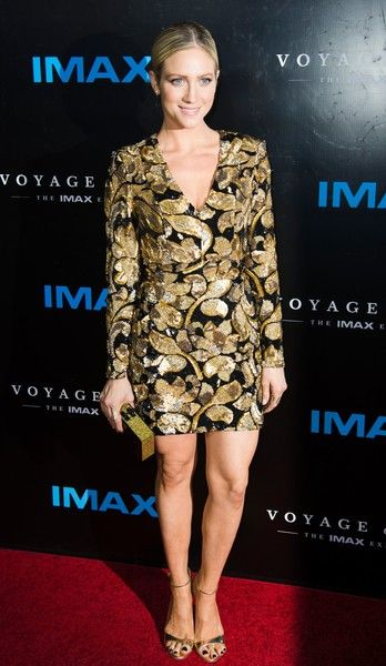 """Actress Brittany Snow arrives for the premiere of """"Voyage of Time: The IMAX Experience,"""" at the California Science Center September 28, 2016 in Los Angeles, California. / AFP / Robyn Beck"""
