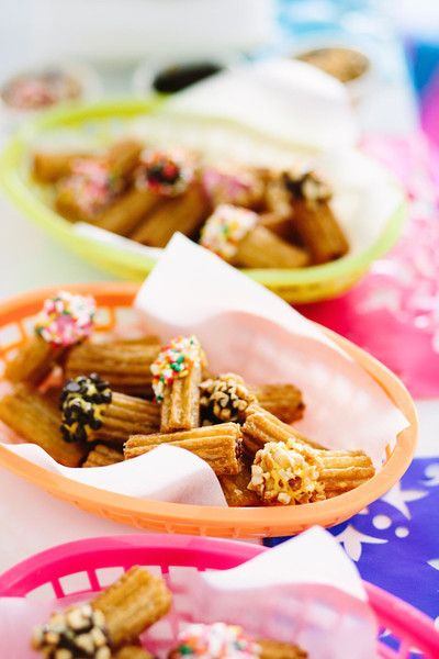 Chocolate-Dipped Churros - Have A Fiesta With These Cinco De Mayo Party Ideas - Photos