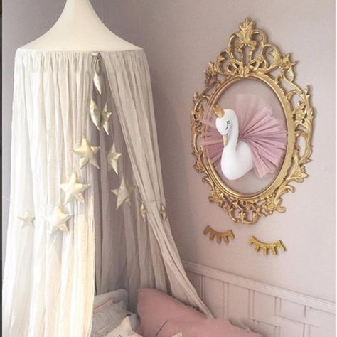 Golden Crown Swan Room Wall Decoration