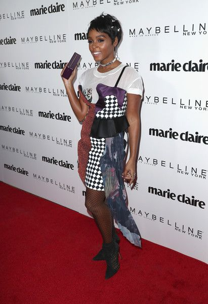 Singer Janelle Monáe attends Marie Claire's 'Fresh Faces' celebration with an event sponsored by Maybelline at Doheny Room on April 21, 2017 in West Hollywood, California.