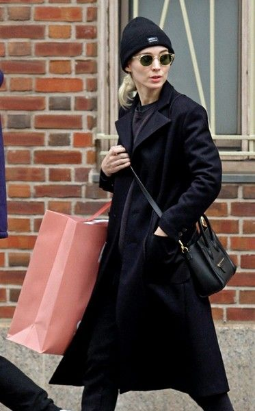 Rooney Mara goes shopping in Manhattan's Meatpacking District.