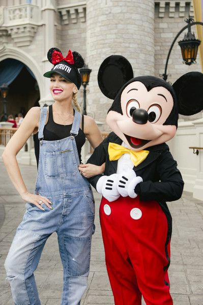 Singer-songwriter Gwen Stefani meets up with Mickey Mouse at Magic Kingdom.
