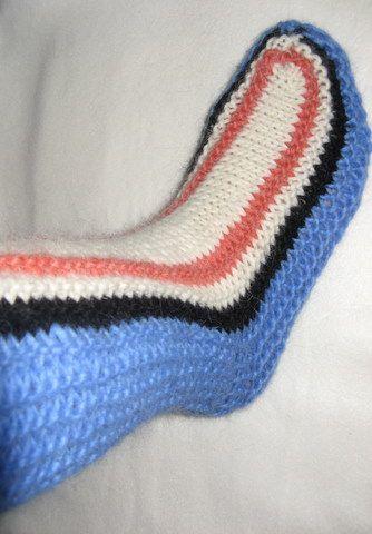 Ирландское вязание носков спицами 83