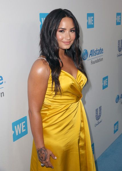 Singer/actor Demi Lovato attends WE Day California to celebrate young people changing the world at The Forum.
