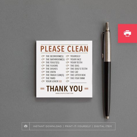 Cleaning Bill - Fun Honey-Do Lists That Will Make Chores a Little Less Painful - Photos