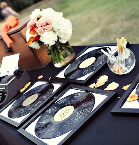 Vintage Vinyl - The Most Creative Themed Wedding Ideas - Photos