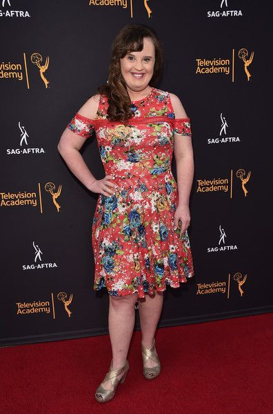 Actress Jamie Brewer attends the Television Academy and SAG-AFTRA's 4th Annual Dynamic and Diverse Celebration at The Saban Media Center.