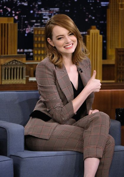 Emma Stone Visits 'The Tonight Show Starring Jimmy Fallon' in NYC.