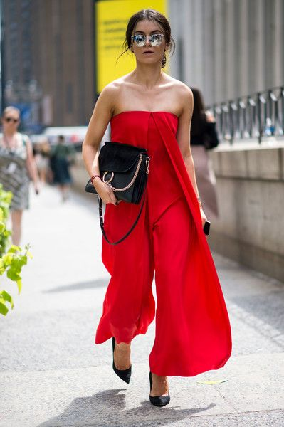 Fierce Red - The Most Inspiring Street Style at NYFW Spring 2017 - Photos
