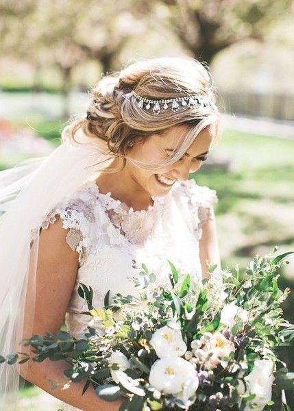 Embellished Circlet - Elegant Wedding Hairstyles With Headpieces - Photos
