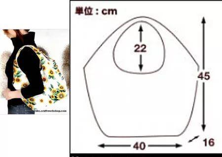 Выкройка сумок из ткани схемы мастер класс