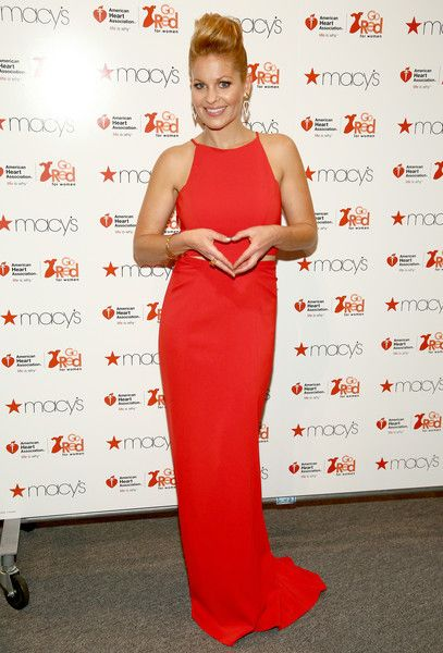 Candace Cameron-Bure attends The American Heart Association's Go Red For Women Red Dress Collection 2016 Presented By Macy's at The Arc, Skylight at Moynihan Station on February 11, 2016 in New York City.