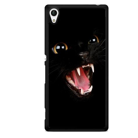 Angry Black Cat TATUM-791 Sony Phonecase Cover For Xperia Z1, Xperia Z2, Xperia Z3, Xperia Z4, Xperia Z5