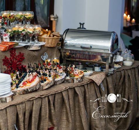 Gourmet buffet wedding