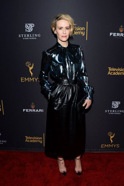 Actress Sarah Paulson arrives at the Television Academy's Performers Peer Group Celebration at Montage Beverly Hills.