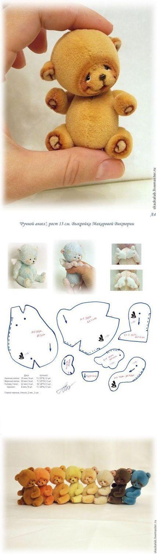 Мишки миниатюрные сшить своими руками 58