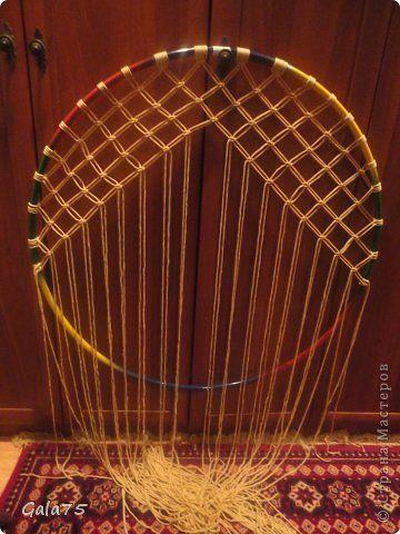 Гамак из обруча своими руками плетение 30