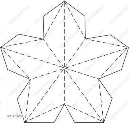 Звезда объёмная из бумаги своими руками схемы 59