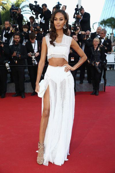 Joan Smalls in a White Two-Piece, 2015 - The Most Daring Dresses on the Cannes Red Carpet - Photos