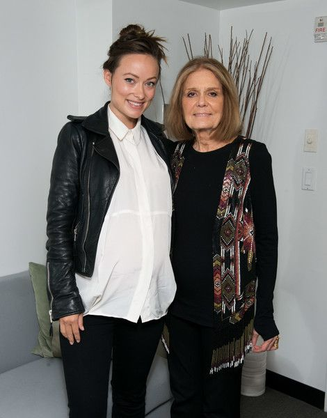Olivia Wilde and Gloria Steinem attend SAG-AFTRA Foundation's The Business to discuss 'WOMAN' at NYIT Auditorium on Broadway.