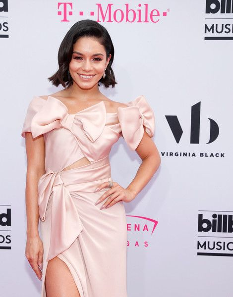 Vanessa Hudgens arrives at the 2017 Billboard Music Awards.