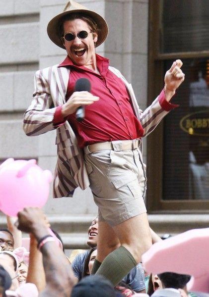 Jake Gyllenhaal performs on the set of 'Okja' in NYC.
