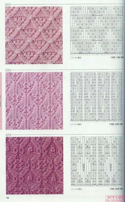 Описание вязания японских узоров 168