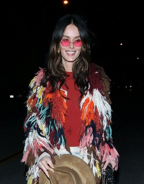 Australian model Nicole Trunfio is spotted leaving Catch in West Hollywood.