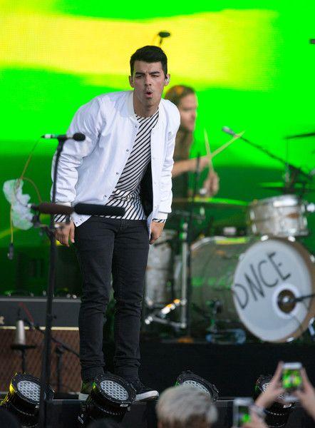Joe Jonas is seen at 'Jimmy Kimmel Live'.NON EXCLUSIVE May 3, 2016.