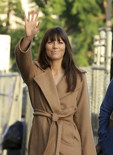 Jessica Biel makes an appearance on 'Jimmy Kimmel Live!' in Hollywood.