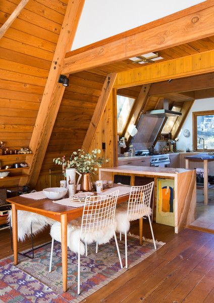 Dine In - This Hollywood Hills A-Frame Home Is Magical - Photos