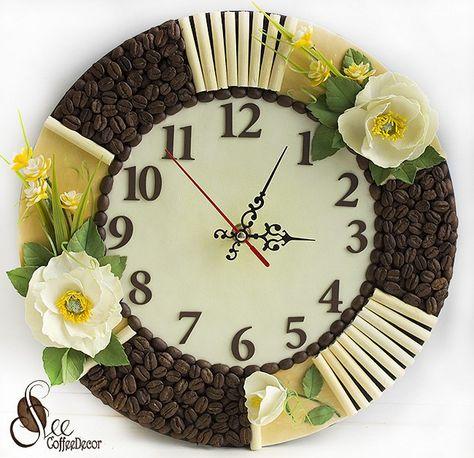 Украшаем настенные часы своими руками