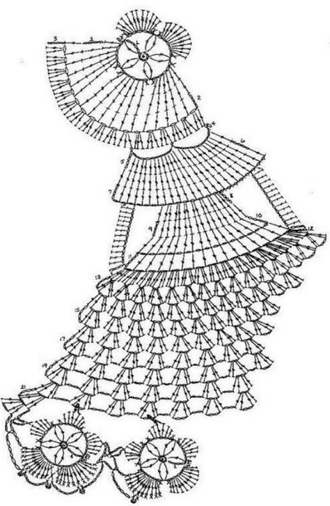 Схема вязания дама