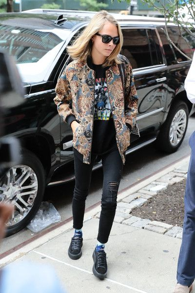Cara Delevingne is seen out and about.