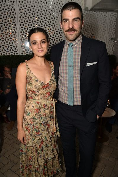 Jenny Slate and Zachary Quinto attend the 2017 Tribeca Film Festival After Party For Aardvark At La Sirena at La Sirena on April 21, 2017 in New York City.