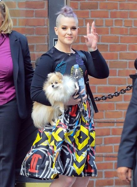 Kelly Osbourne and her dog are spotted out in New York City.