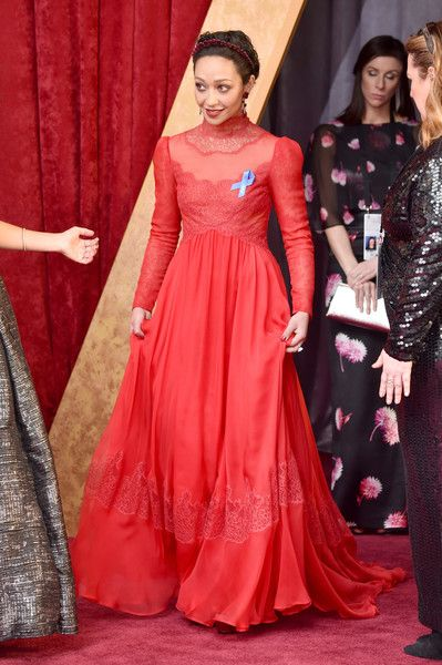 Actor Ruth Negga attends the 89th Annual Academy Awards.